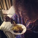 Genny eating her delicious abacha.jpg