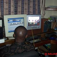 One of the editing suites at House of macro, also in Surulere.