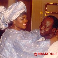 I can't remember the name of this popular yoruba actress seen here with Lere Paimo. She was in TK's AYO NI MOFE. Also produced, I think.