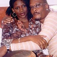 Genevieve Nnaji and Hanks Anuku on the set of the Player