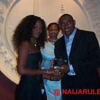 Nnaji receiving her award