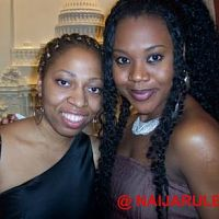 Stella with another fan, Tomi Adeoye