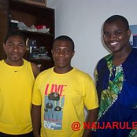 Khamileon, Chico and Sola in Chico Ejiro's Surulere office.