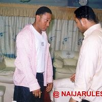Ramsey Nouah and Stanley, his body double in Dangerous Twins