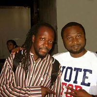 Ok, this one is not photomagic. It is true pisho. The greatest musician and my humble self.