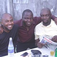 Uche, Crazy T and Segun at Abu´s bar