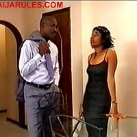 PAUL ADAMS and DORIS SIMEON as a not so harmonious married couple in,OMO AYO.