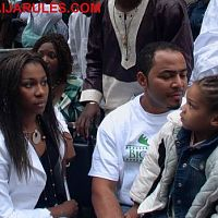 Regina Askia and Ramsey Nouah at the Nigeria Independence Day Parade 2006, New York.