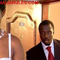 "FEMI BRAINARD barging in on not so naked STEPHANIE OKEREKE(out of the shot),in ""BE 4 THE VOW""."