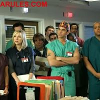 With the cast of scrubs