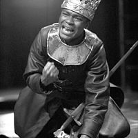 The first black to play a British Monarch.As King Henry IV