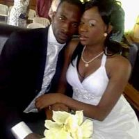 9ice and Toni Payne on their wedding day
