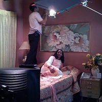 "On set of ""Ije"". This room was actually setup in a studio in LA."