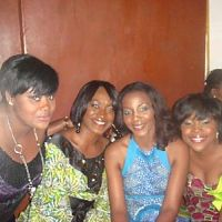 actresses adaora ukoh,kate henshaw-nuttall,genevieve nnaji and musician omawumi megbele, spotted at a recent celebrity event in lagos,nigeria.