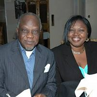 Justus Esiri and wifey