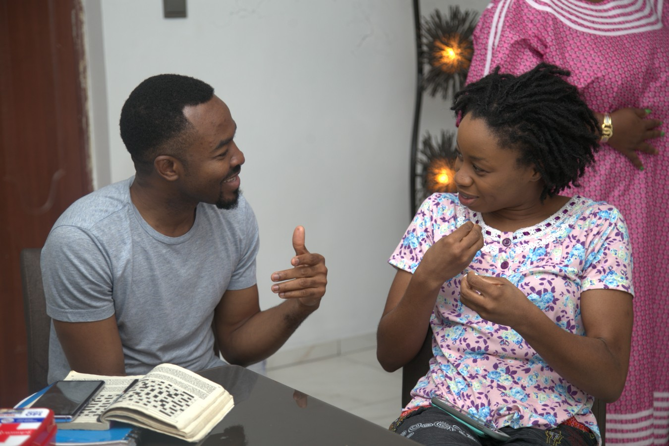 OC Ukeje and A'rese Emokpae in Unbreakable